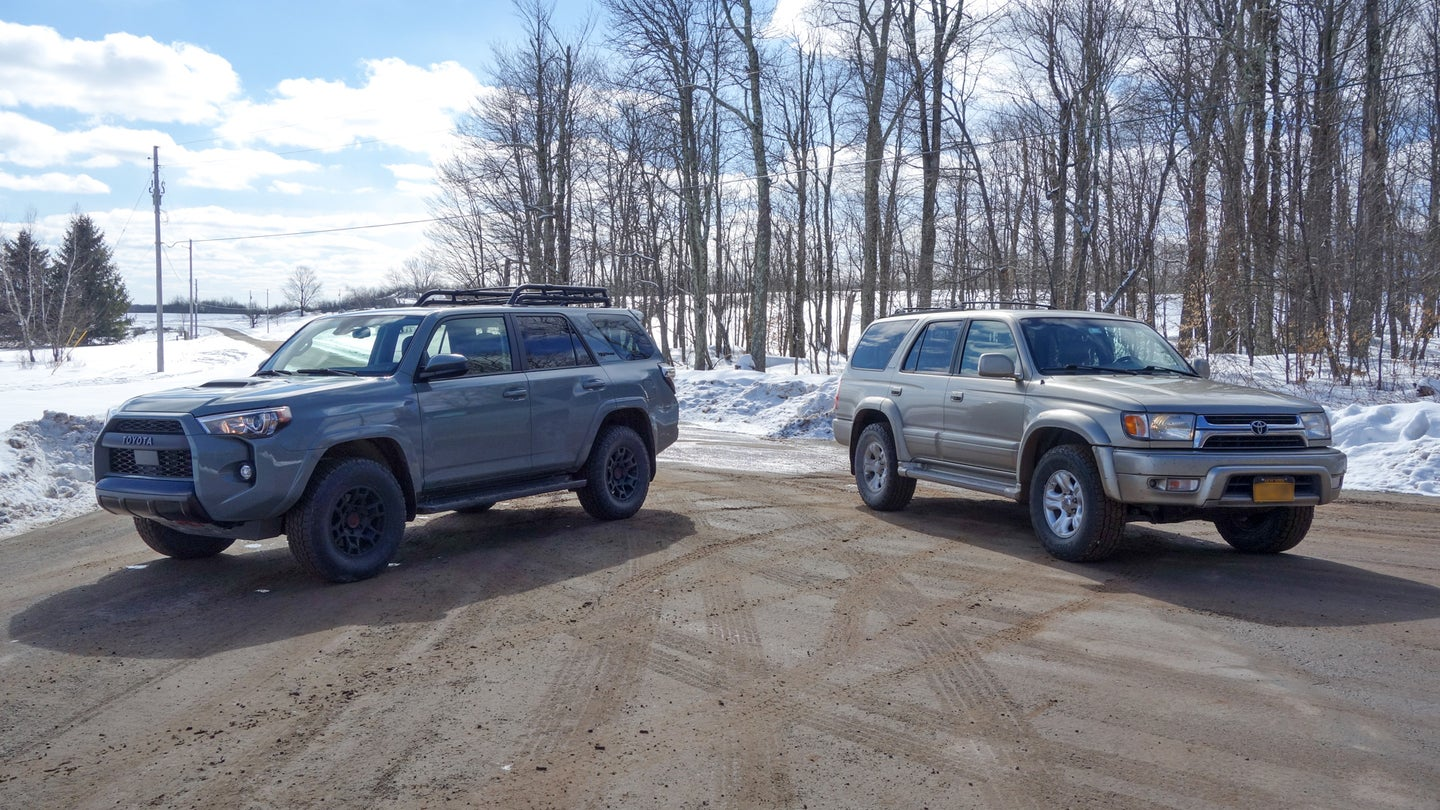 Toyota 4Runners, old and new