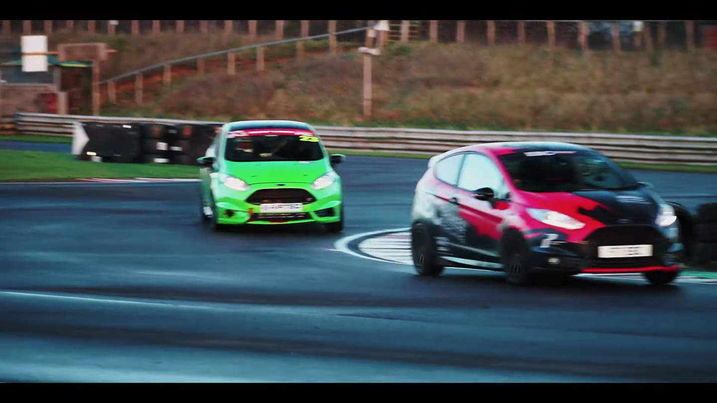 Ford Fiesta STs racing