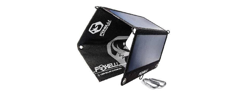 Foxelli Triple USB Portable Solar Charger