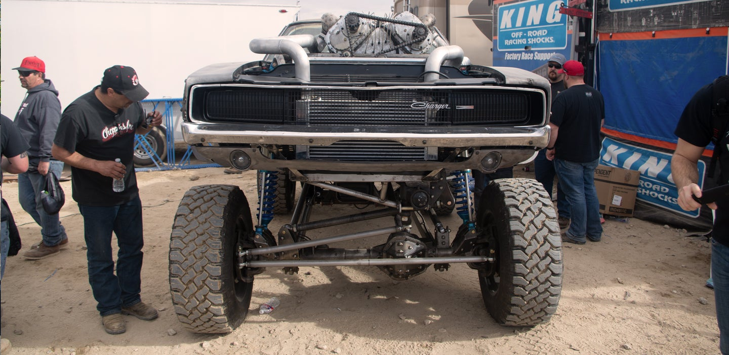 This Dodge Charger Would Measure Suspension Travel in Feet, Not Inches