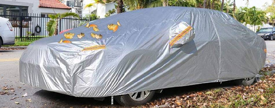 Covered SUV on the street