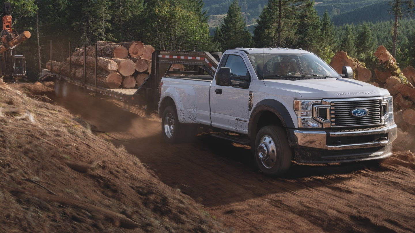 Ford Super Duty with diesel power.