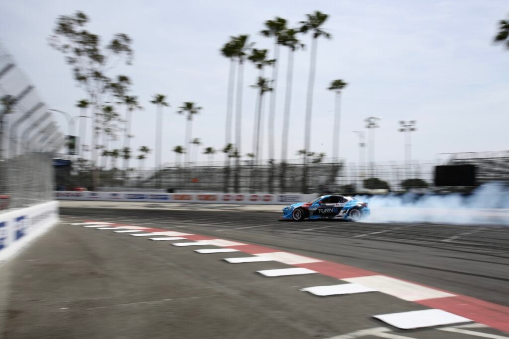 Palm Trees, Sunshine, and Tire Smoke From a 8.1-Liter Turbo LS-Powered BRZ