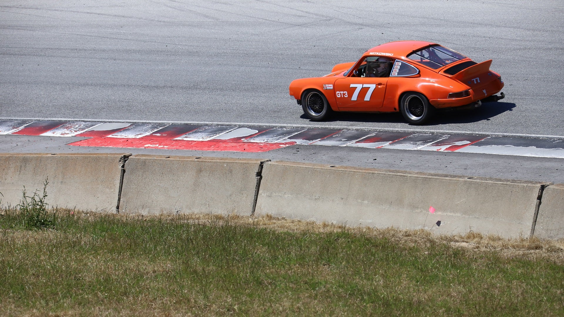 Just an Air-Cooled Porsche Looking Right on a Hot Rip Around Laguna Seca