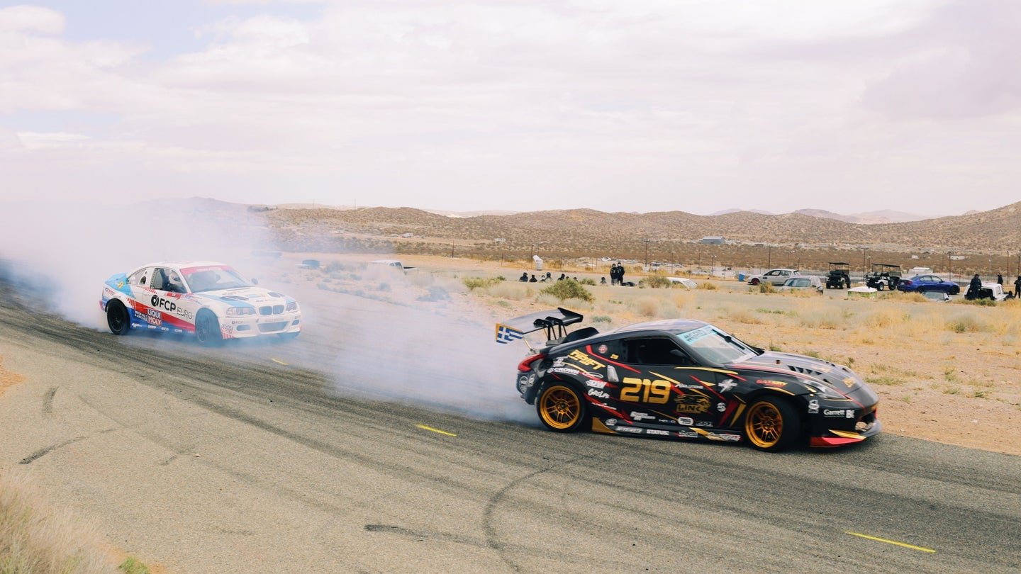 The Most Extreme Drift Cars Keep Roasting Their Tires When They Go Straight