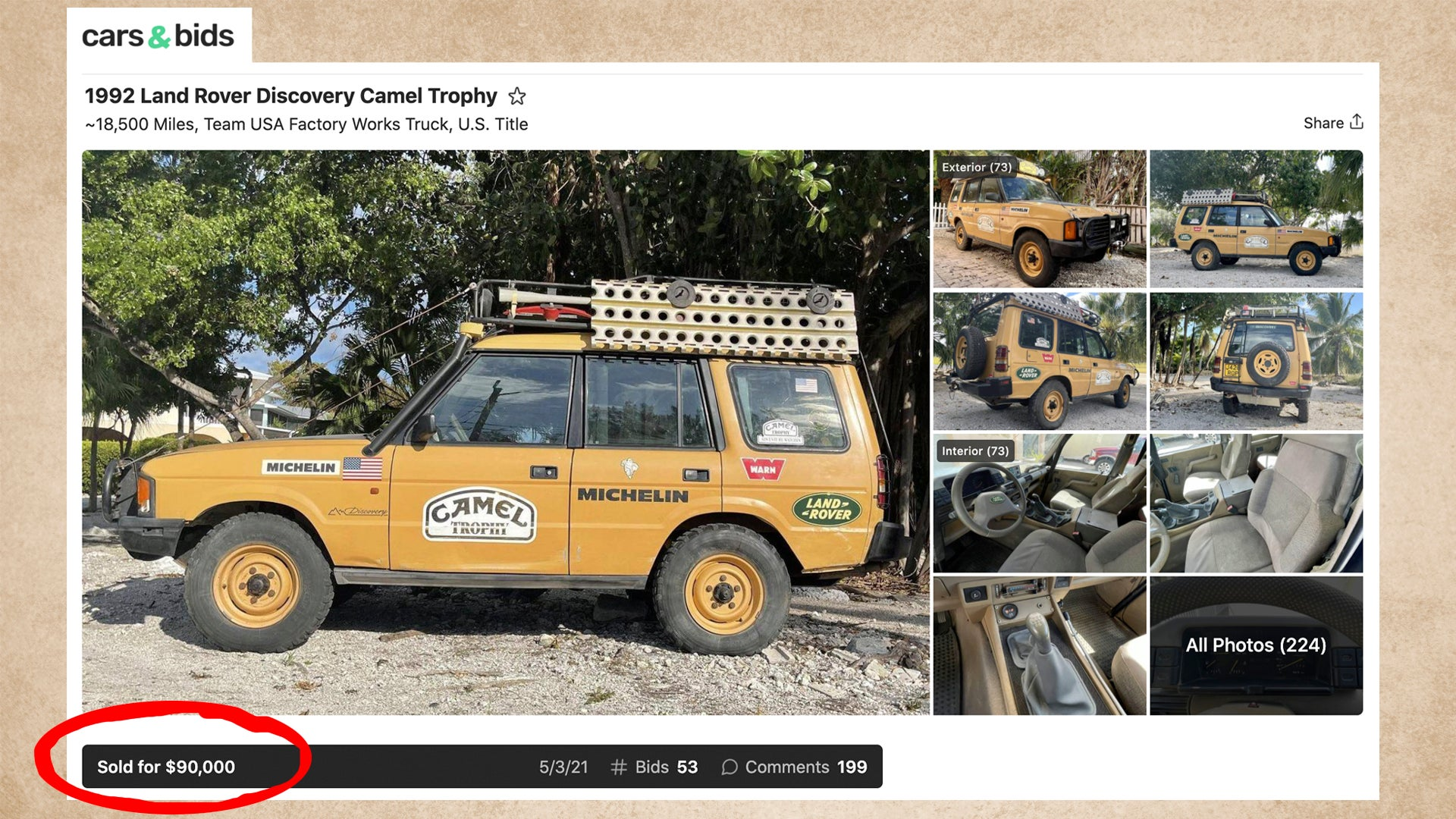 $90,000 Land Rover Discovery