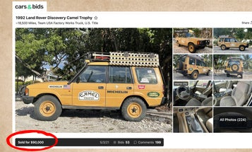 This $90,000 1992 Land Rover Discovery Proves Provenance Pays