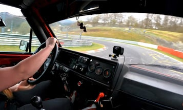 Watch This Rowdy Mk2 GTI Light It Up on the Nürburgring With a VR6 Engine Swap