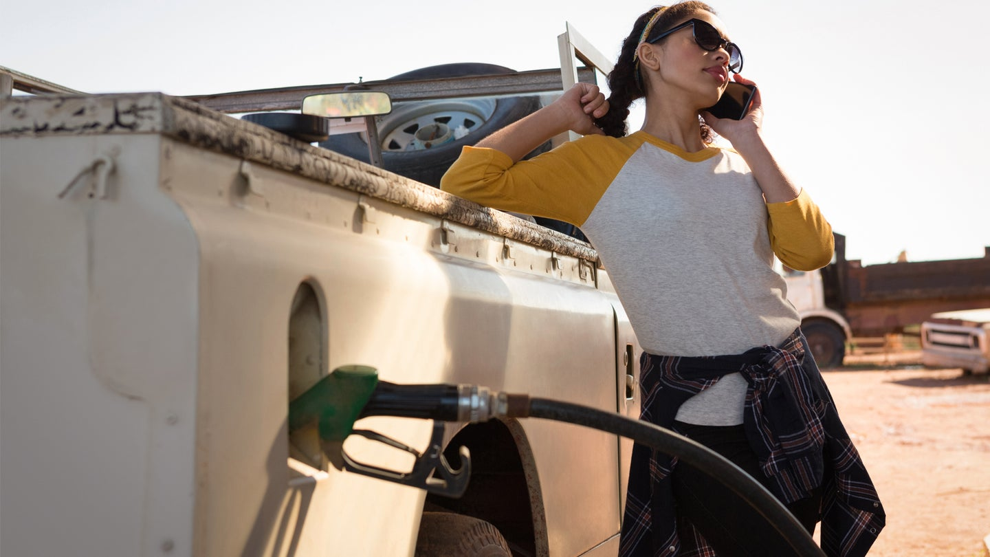 Pumping Gas While Talking On The Phone