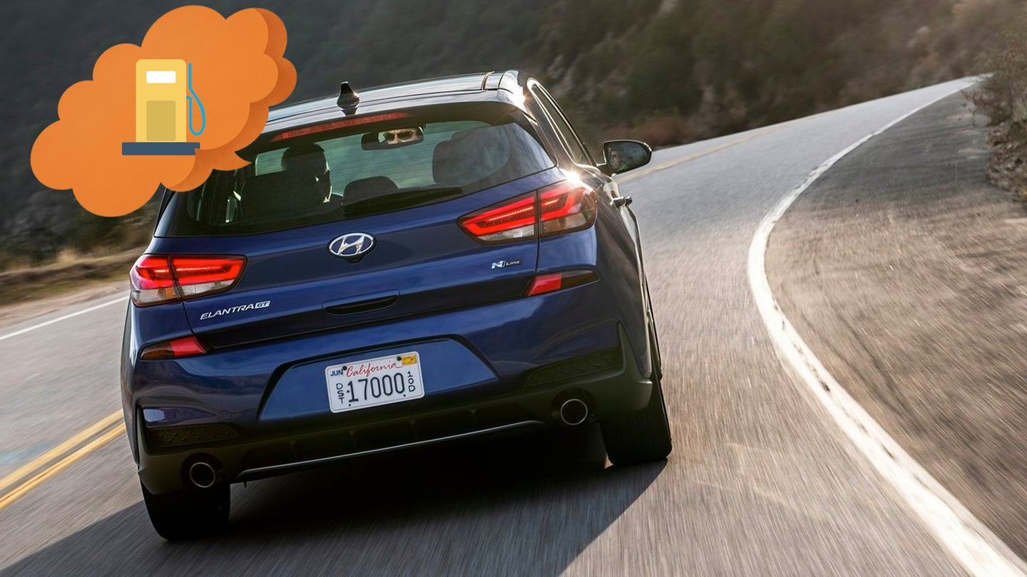 The Hyundai Elantra GT Has the Fuel Economy of a Light Truck for Some Reason
