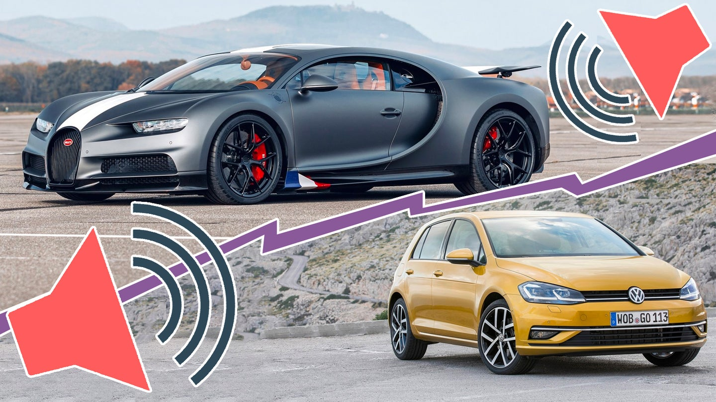 Here's One Thing a VW Golf and a Bugatti Chiron Share