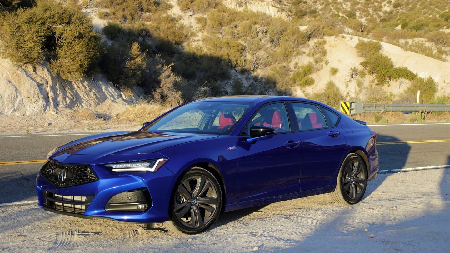 The 2021 Acura TLX Is a Huge Car in Dimensions and Fun Factor