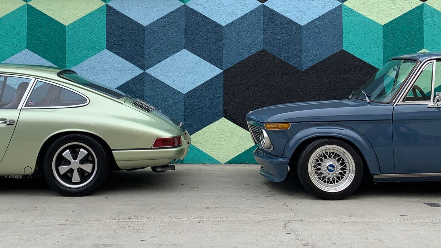 These Cars Match the Wall They're Parked Next To Bizarrely Well