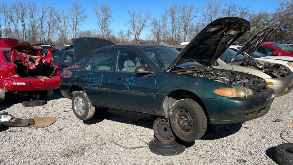 Finding This Remarkably Unrusty Ford Escort in an Ohio Junkyard Made Me Wonder About Its Life