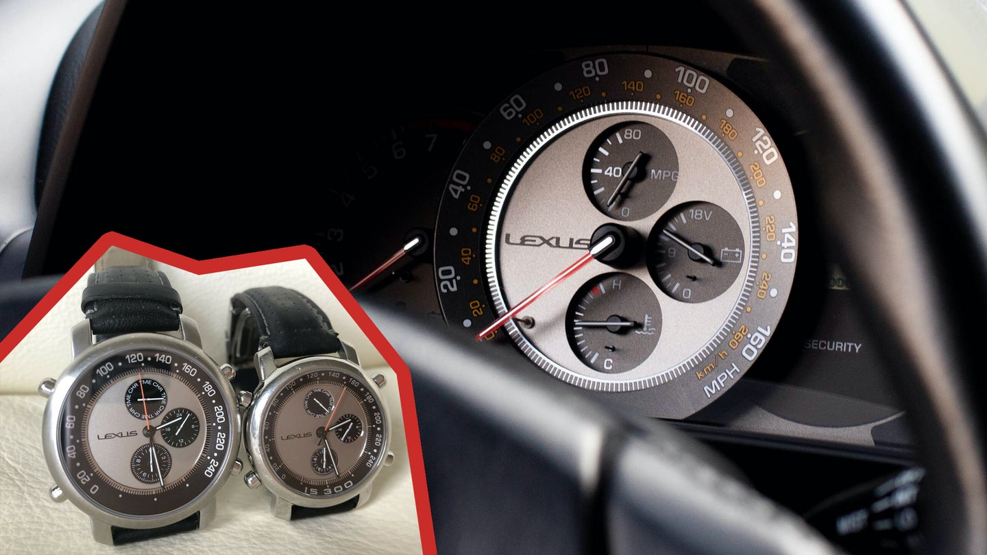 Lexus Was So Proud of the IS300 Gauge Cluster It Made Watches and Wall Clocks To Match