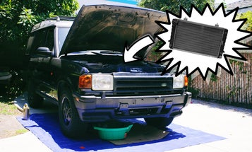 It Only Took a Tiny Bit of JB Weld To Do a Flawless Radiator Installation In My Land Rover Discovery