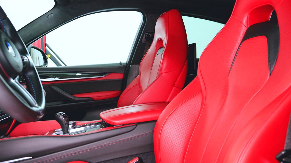 Racing bucket seats in a fast track day car