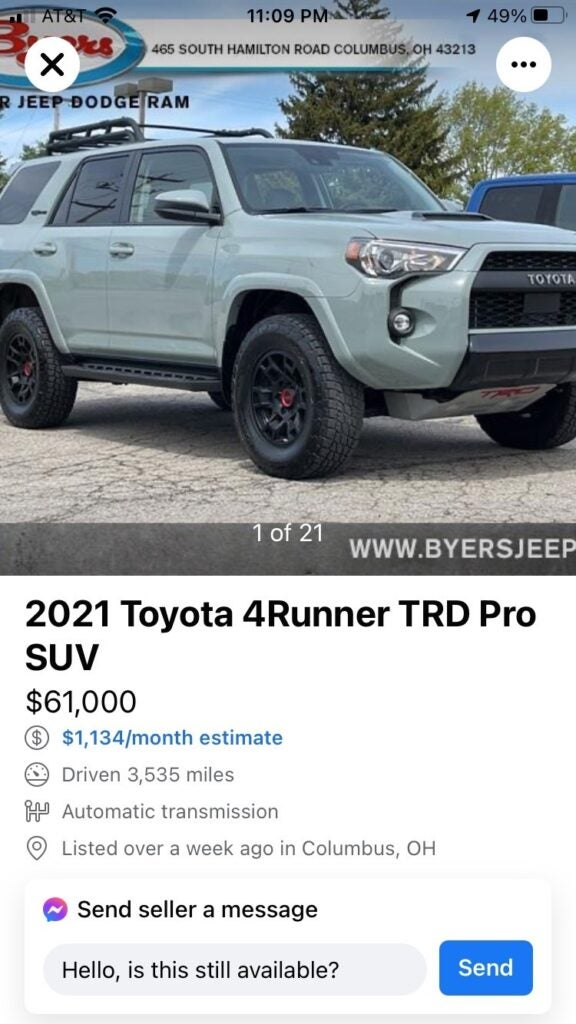 Are Y'all Really Paying $80,000 for Toyota 4Runners?