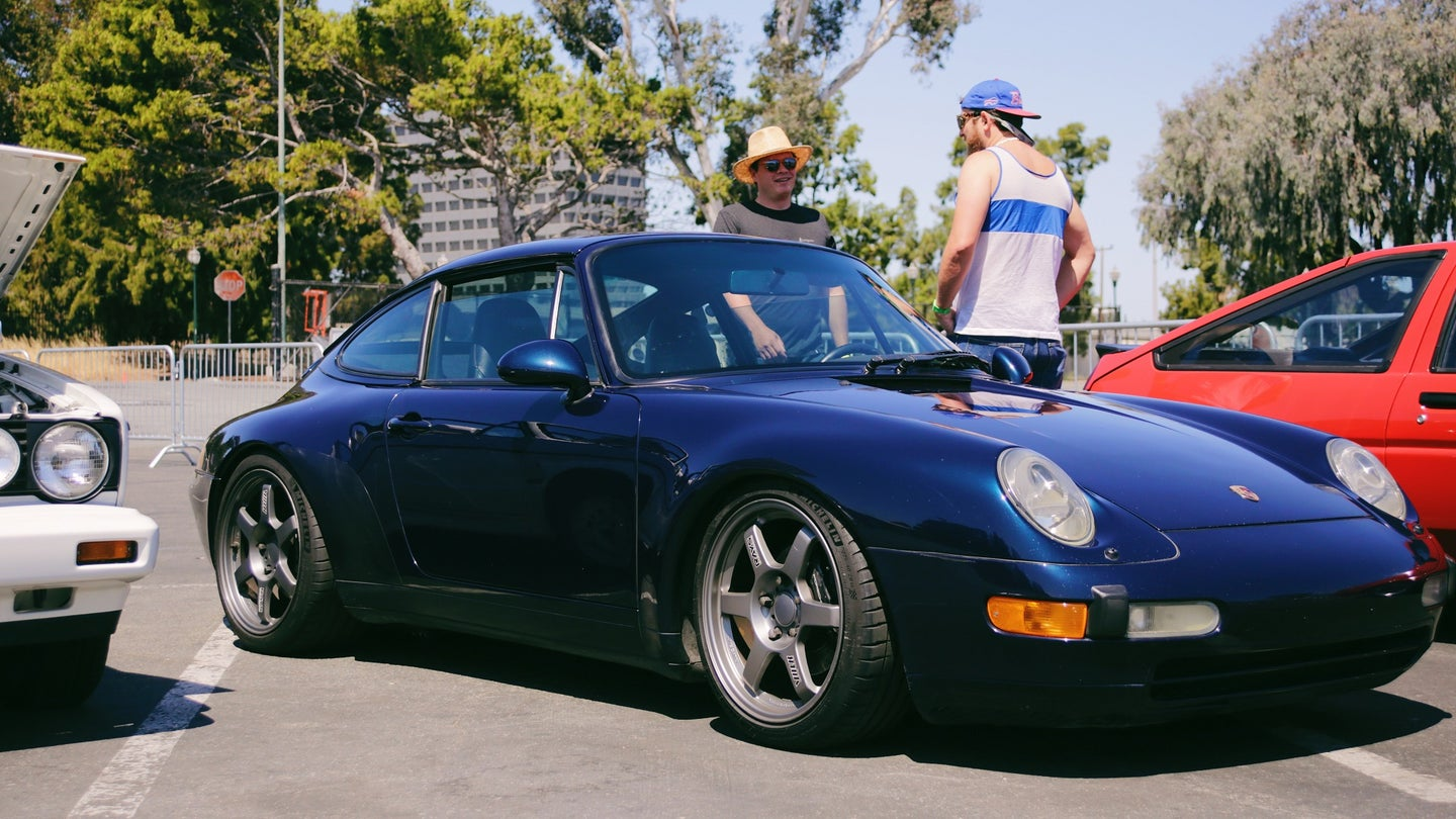 Air-Cooled Porsches Look So Good on Non-Traditional Wheels