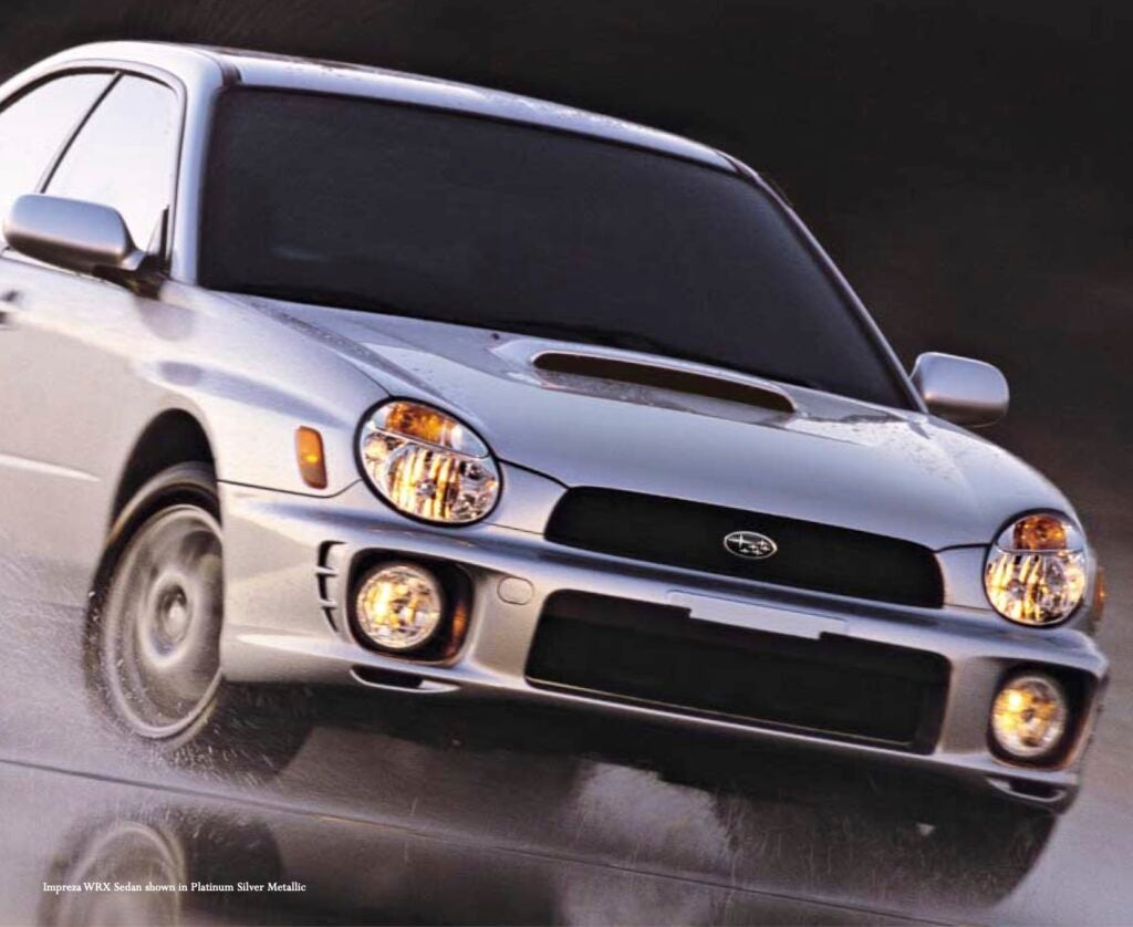 This 2002 Subaru Brochure Is a Beautiful Artifact From When Motorsports Actually Sold Cars