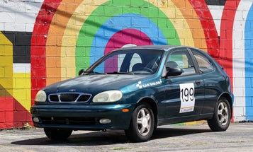 I Finished My Daewoo 'Race Car' Just in Time for This Weekend's Rainbow Road Rallycross