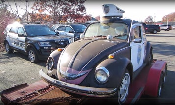 This Cute Abandoned VW Beetle Cop Car Is Getting the Restoration It Deserves