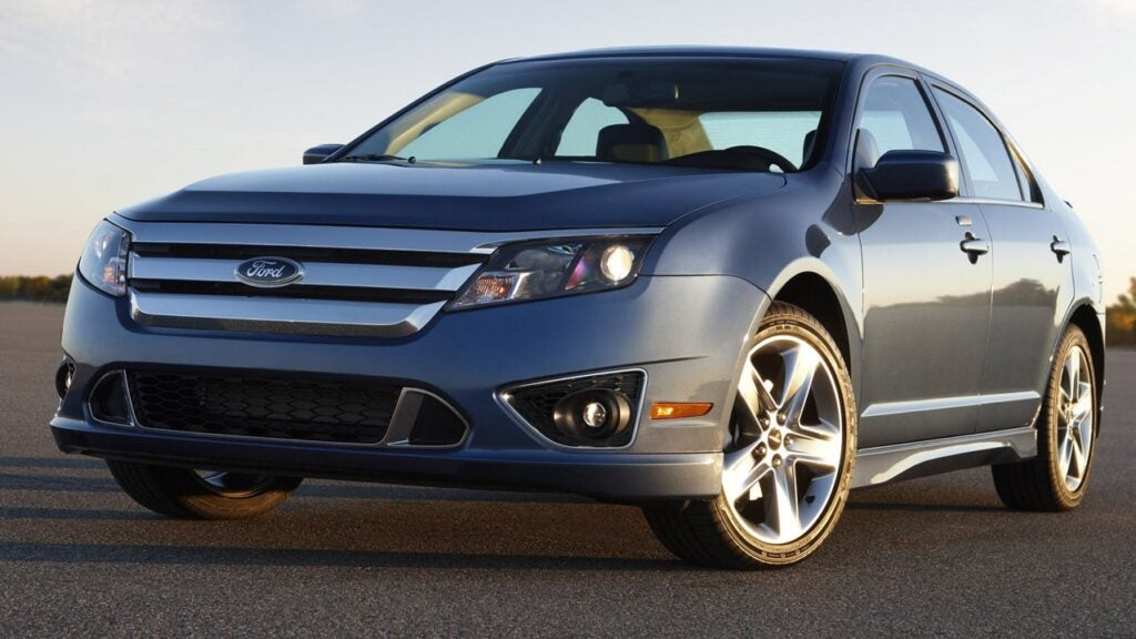 Ford Fusion Sport 2010; this a mid-sized four-door sedan.