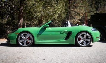 A Python Green Porsche Boxster Looks More Like a Frog Than a Snake but I'm Into It