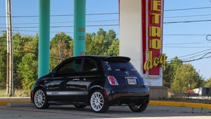 Fiat 500 Abarth parked at defunct drive in