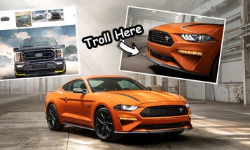 An Aftermarket Ford Tuner Is Trolling Mopar Owners With Mustang Splitter Guards