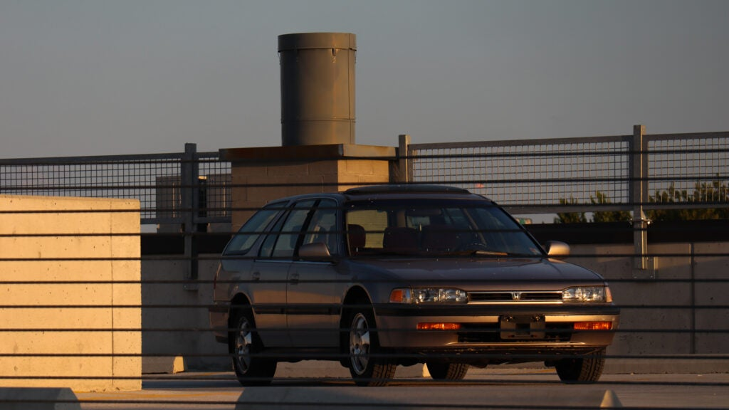 1993 accord behind barrier