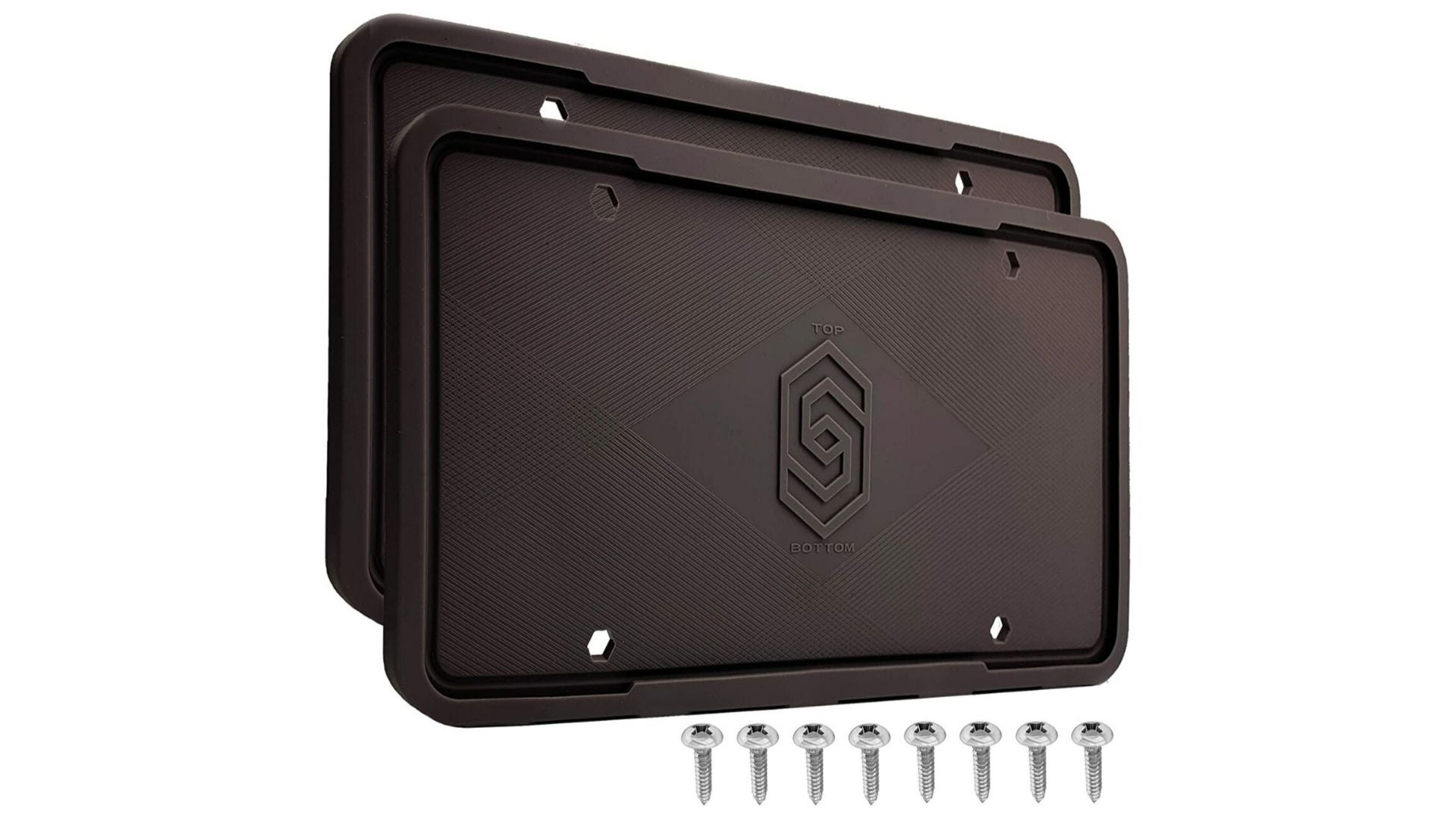 Solid Silicone Black License Plate Frame Covers