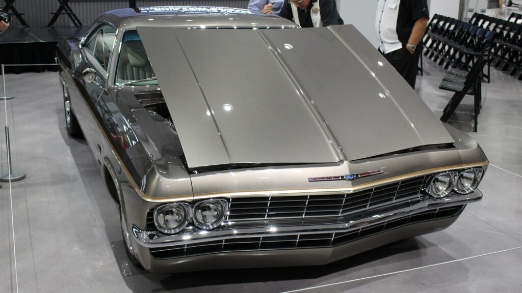 A Chip Foose custom Chevy Impala at the Petersen Museum.