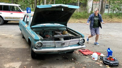 Captured: That Moment When You Really Hope Your 1965 Plymouth Valiant Keeps Running