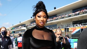 Meg Thee Stallion in the F1 grid.